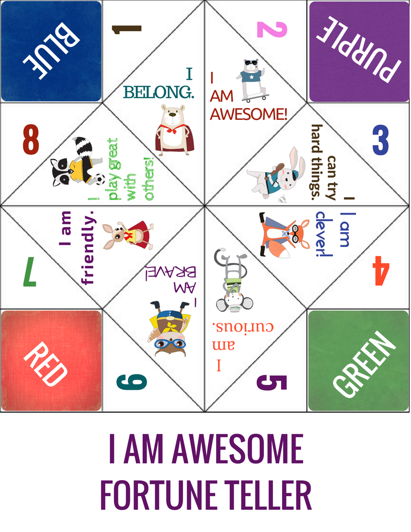 Positive affirmations fun school counseling lesson group game on positive affirmations fun school counseling lesson group game on self esteem thecheapjerseys Gallery