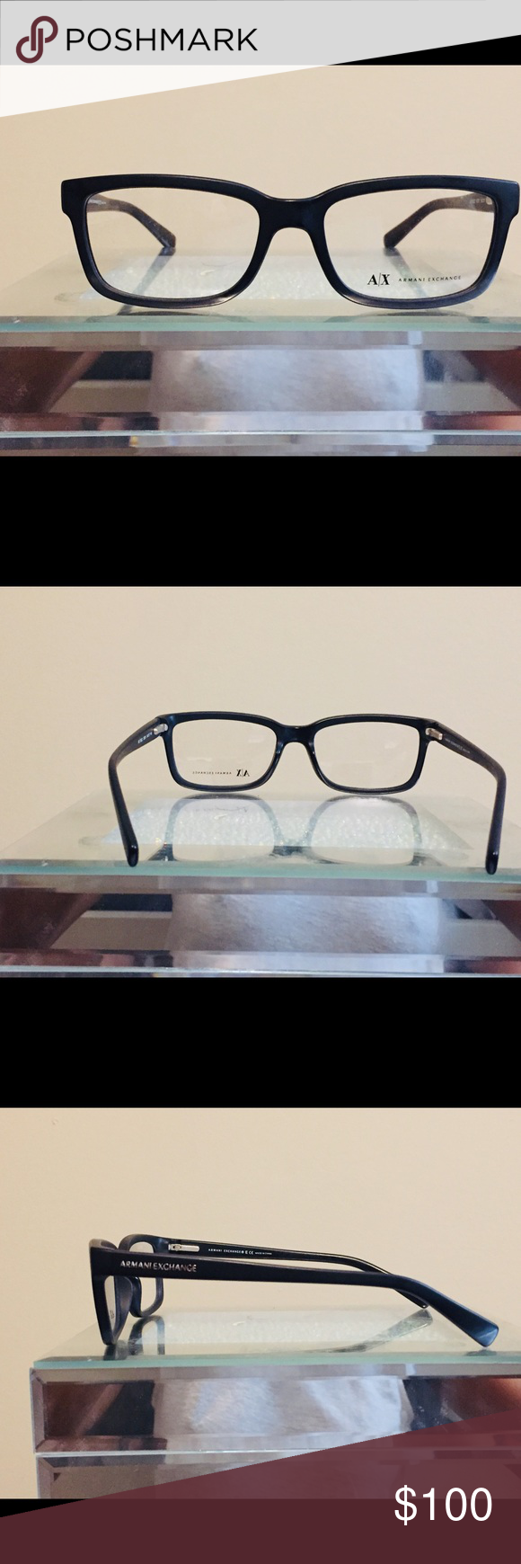 783226fc8c09 Armani Exchange Glasses Black Frame Armani Exchange glasses black Frame.  Never worn. No case. A X Armani Exchange Accessories Glasses