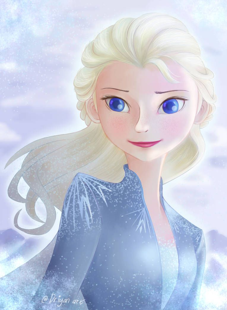 Elsa With Anna Hairstyle By Driyanart Frozen2 Frozen Art Disney Fan Art Art