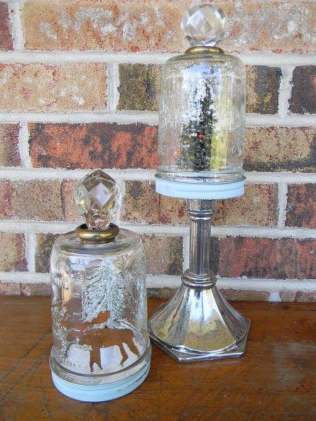 How To Make Mason Jar Snow Globes Repurposing, Upcycling and Jar