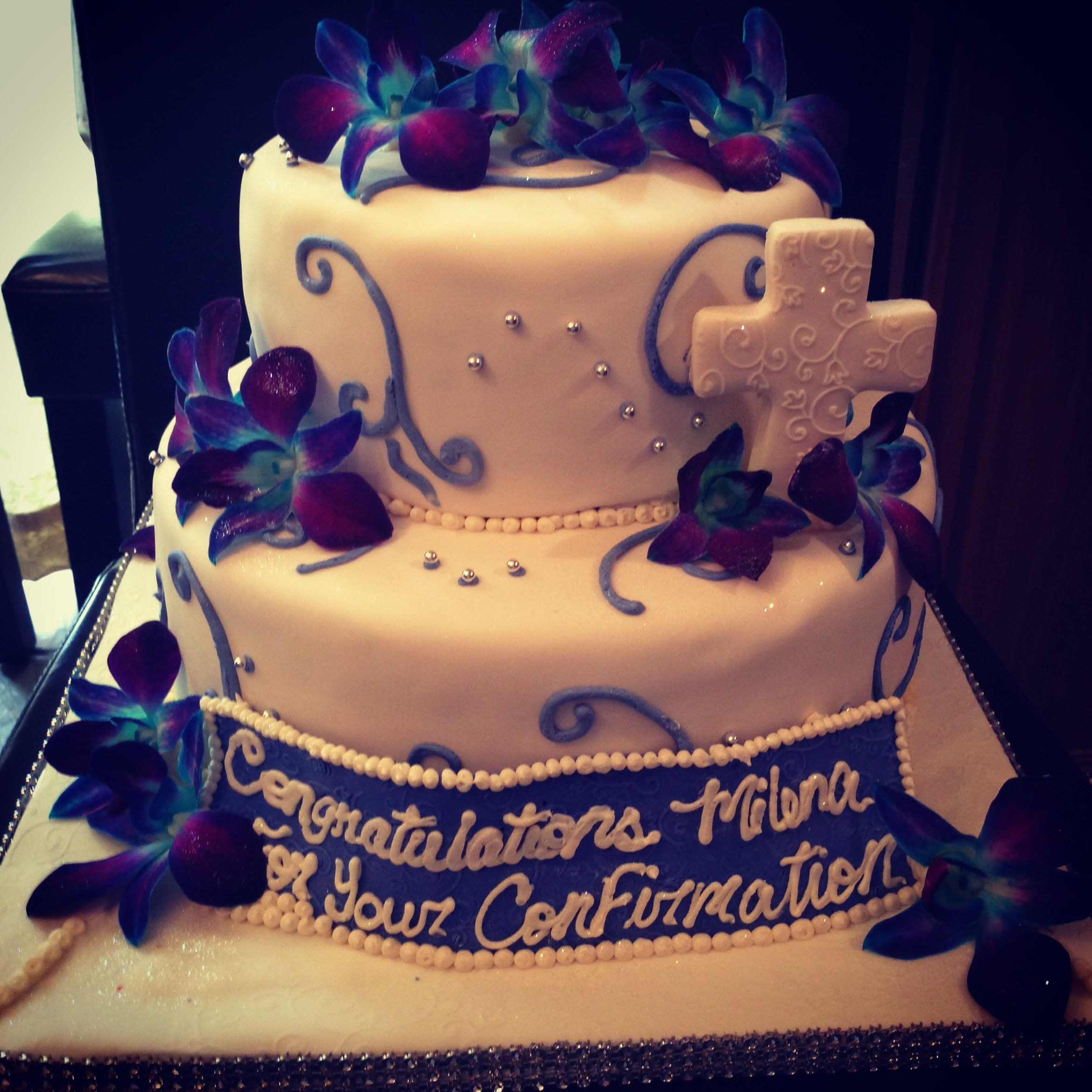 confirmation cake~ | Maria's Party | Pinterest