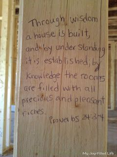 Building our house on the word of God - My Joy-Filled Life