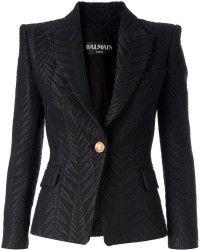 8c6ab289 Balmain Jacquard Blazer - Lyst   Fashion   Balmain blazer, Balmain ...