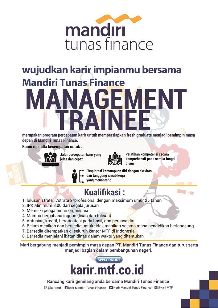 OPEN! Management Trainee Batch 7 from Mandiri Tunas ...