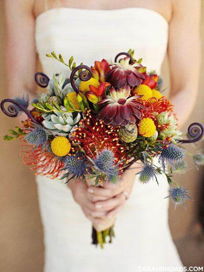 Rustikaler Bunter Brautstrauss Wuste Hochzeit Herbstliche