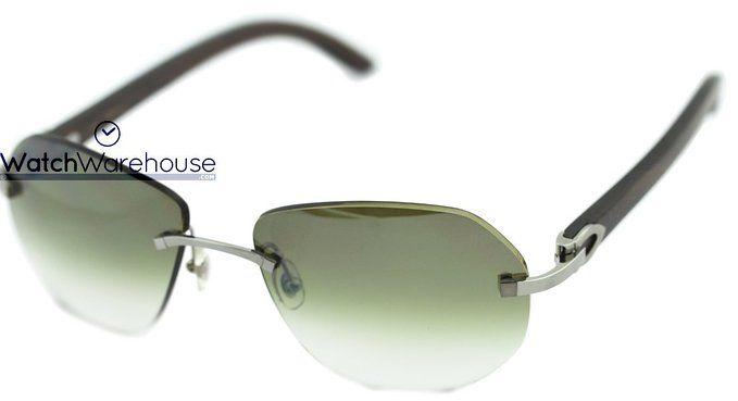 8d10f62d257 Cartier T8300729 Gradient Lenses Wood Temple Men s Rimless Sunglasses composite  frame composite lens polarized Lens width  56 Bridge  17 Arm  ...