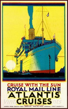 Royal Mail Line Ship Poster Cruise Travel Posters