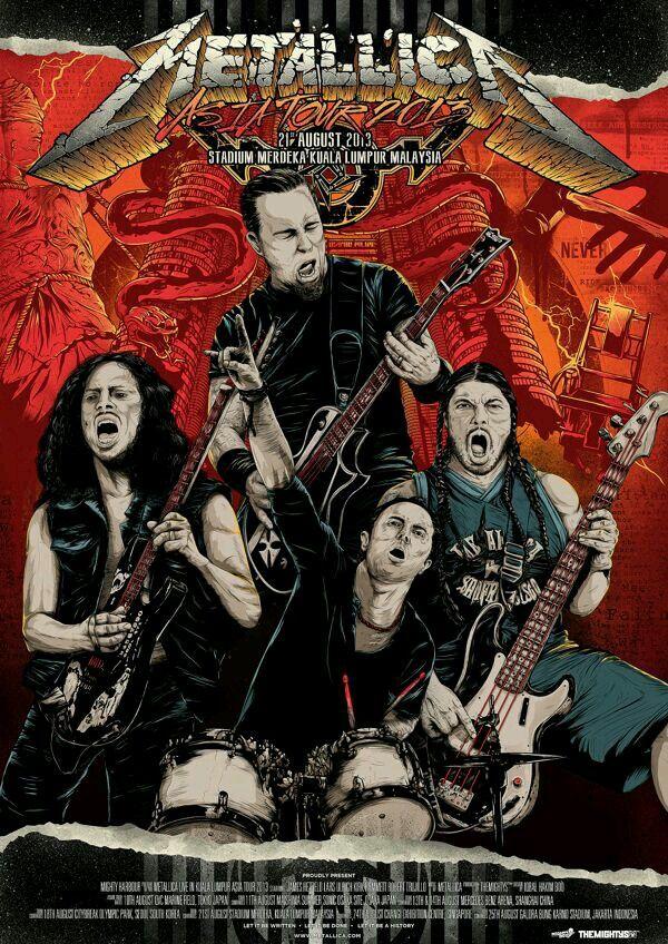 Metallica Show Post | Metallica art, Metallica live, Metallica