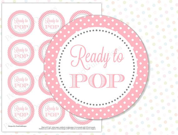 Baby shower Bags /& READY TO POP Stickers Favour Kit 12 x Yellow Washing Line