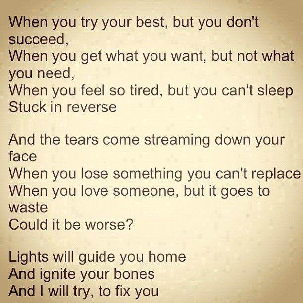 Fix You Coldplay Con Immagini