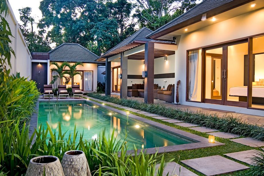 cute modern pool houses. House  modern home design with swimming pool and gazebo in garden