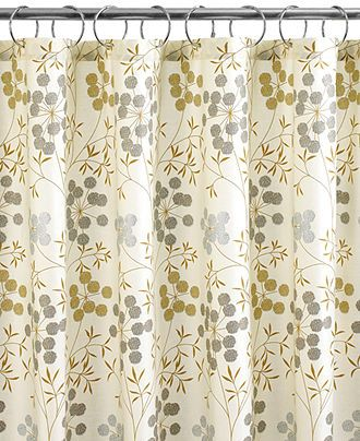 Martha Stewart Collection Bath Accessories, Garden Glimmer Shower Curtain    Shower Curtains   Bed U0026