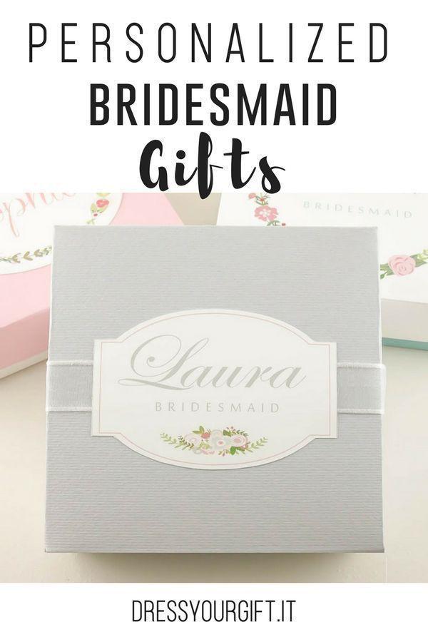 Personalized Bridesmaid Gifts Bridal Wedding Pinterest