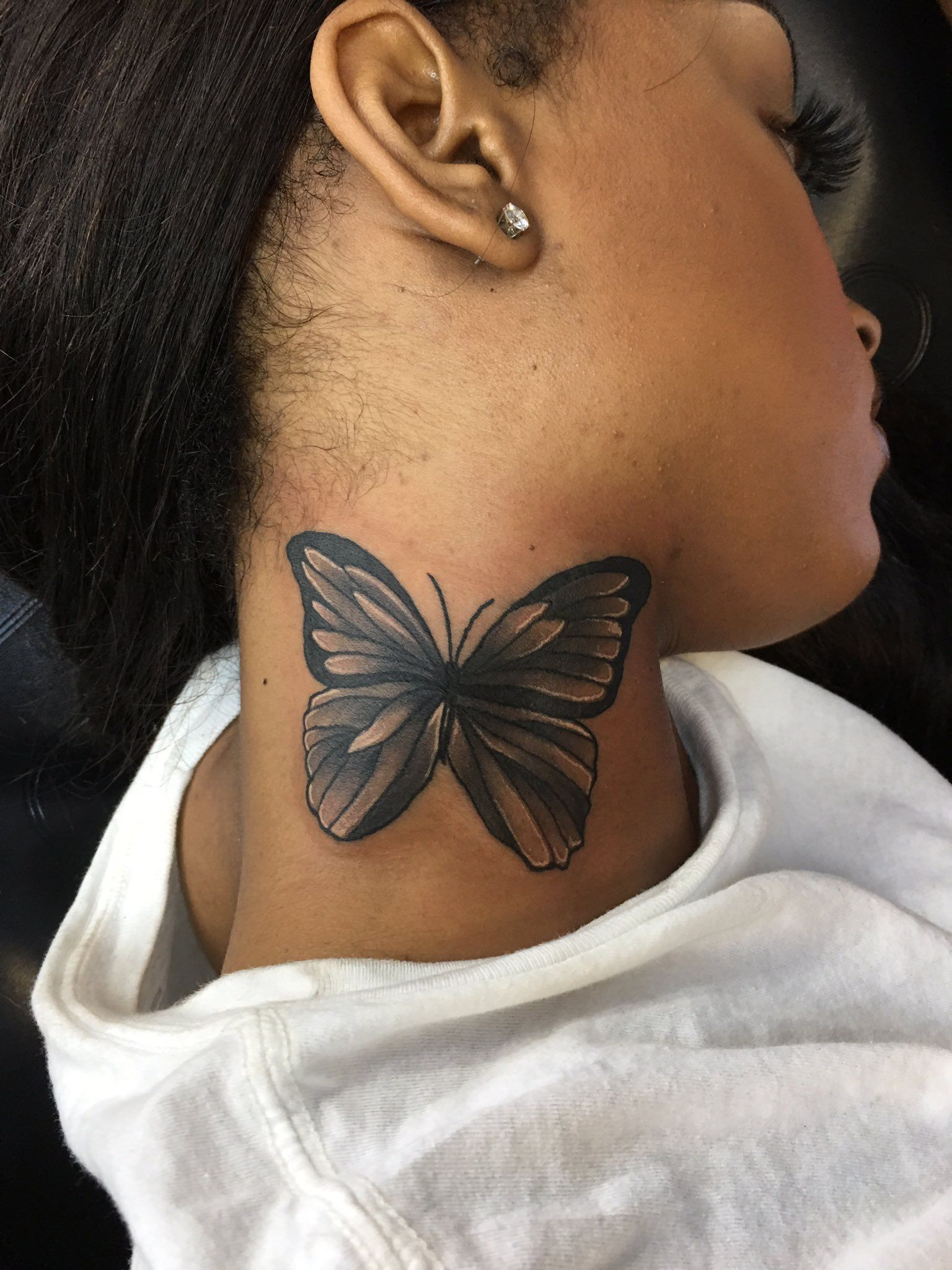 Girl Neck Tattoos By J Bbae On Tattoos Piercings Neck