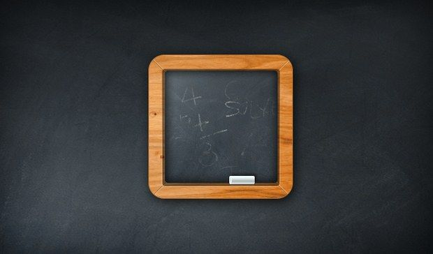Free PSD Files Minimal Chalkboard App icon design