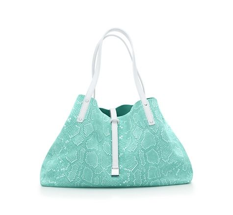be5c4daf51 Tiffany & Co. | Item | Python print reversible tote in suede and smooth  calf. More colors available. | United States