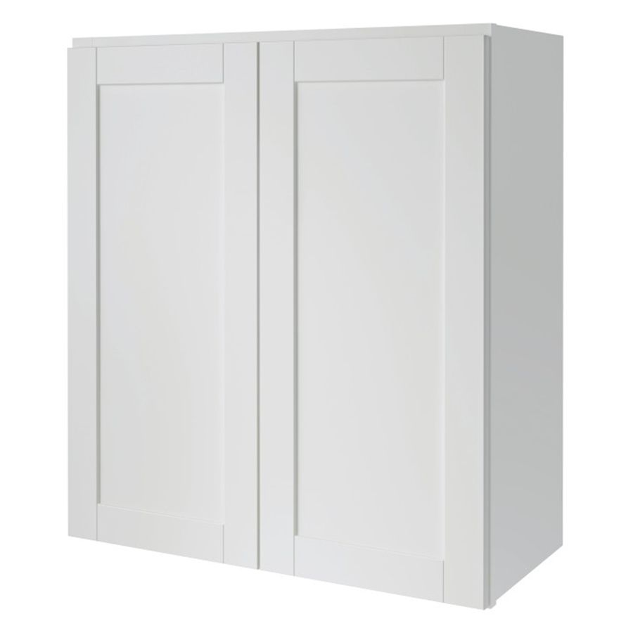 Kitchen Classics Arcadia 27 In W X 30 In H X 12 In D White Shaker Door Wall Cabinet Stock Cabinets White Doors Wall Cabinet