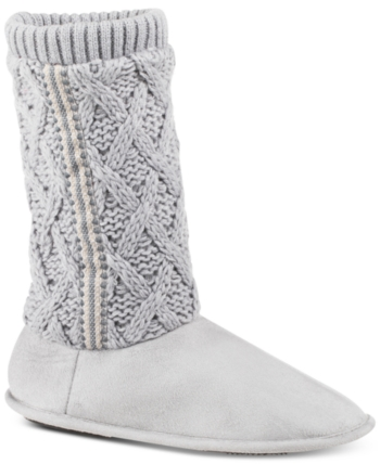 516a8af6790 Isotoner Signature Women's Tessa Sweater-Knit Tall Boot Slippers ...