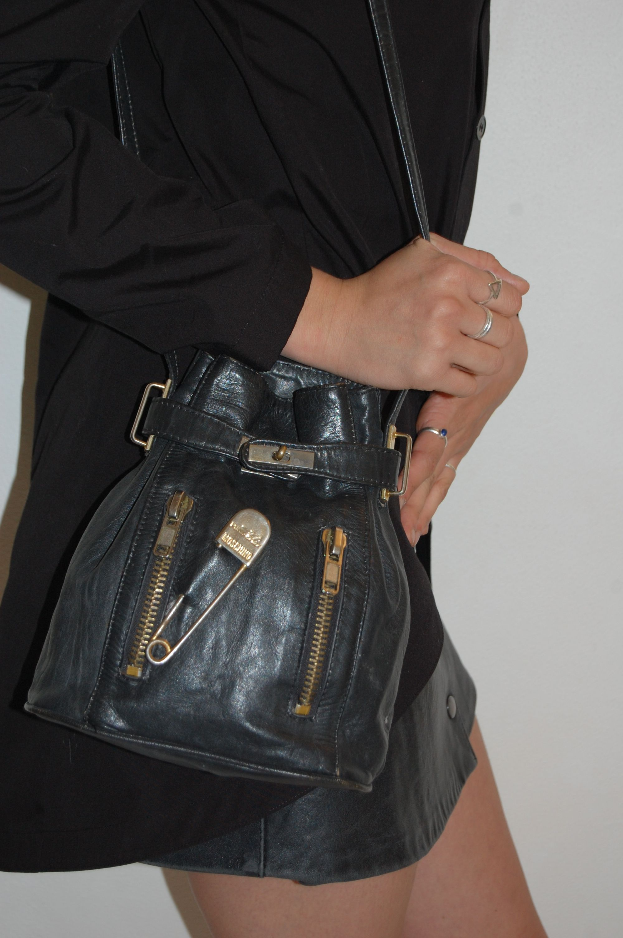 Moschino Safety Pin Vintage Pouch Shoulder Bag. Available