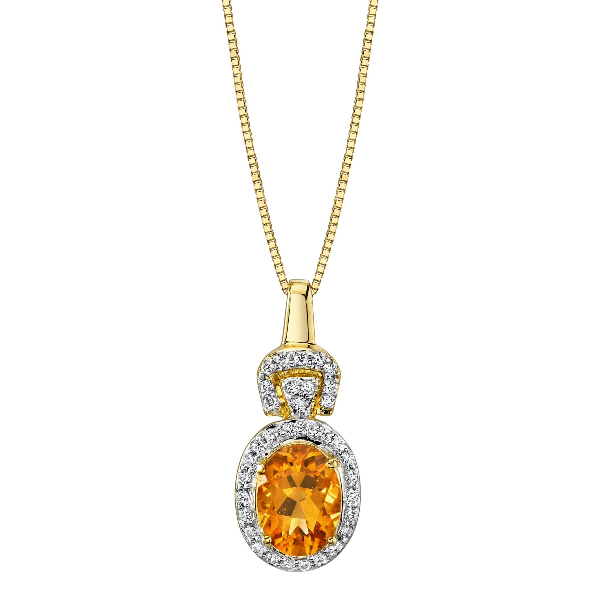 pin necklace pendant gold sapphire diamond karat citrine and comprising a