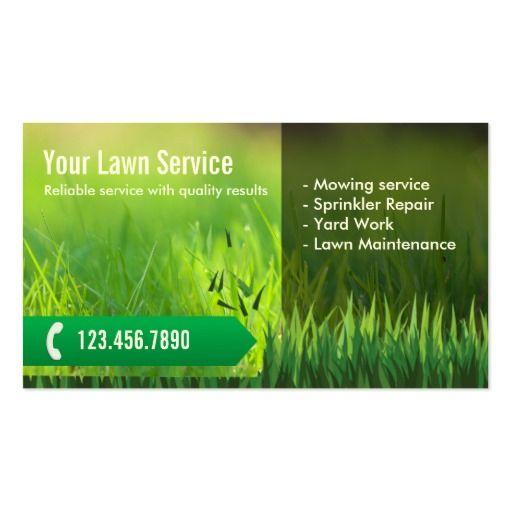 Professional Lawn Care  Landscaping Business Card Landscaping