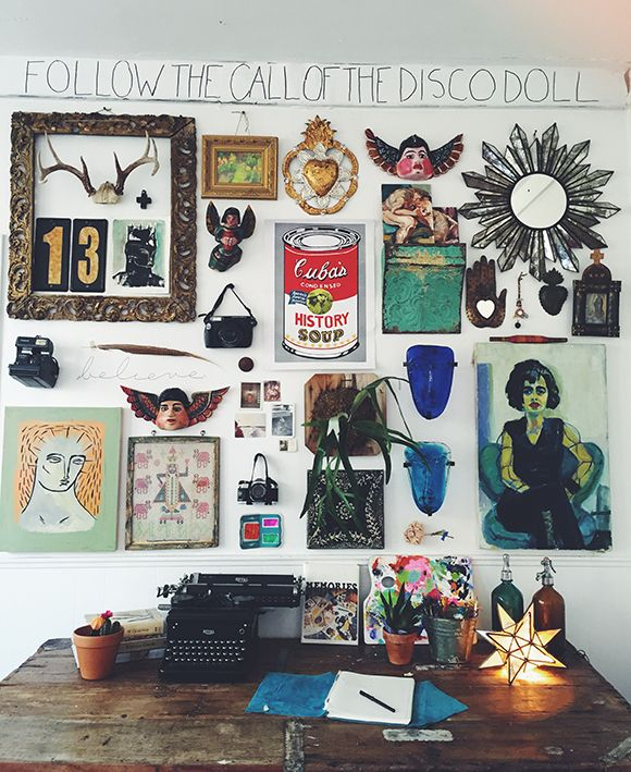 Filling a wall with things that inspire! Décor Do: Build A Gallery Wall | Free People Blog #freepeople