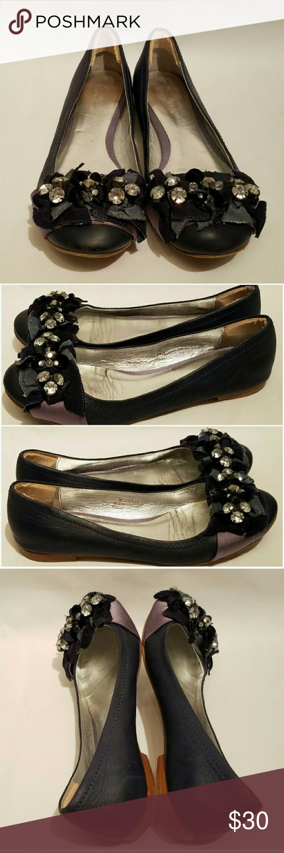 dc2a48e41a8 Boden Rhinestone Ballet Flats So sad these didn t fit!! Purchased from  Poshmark