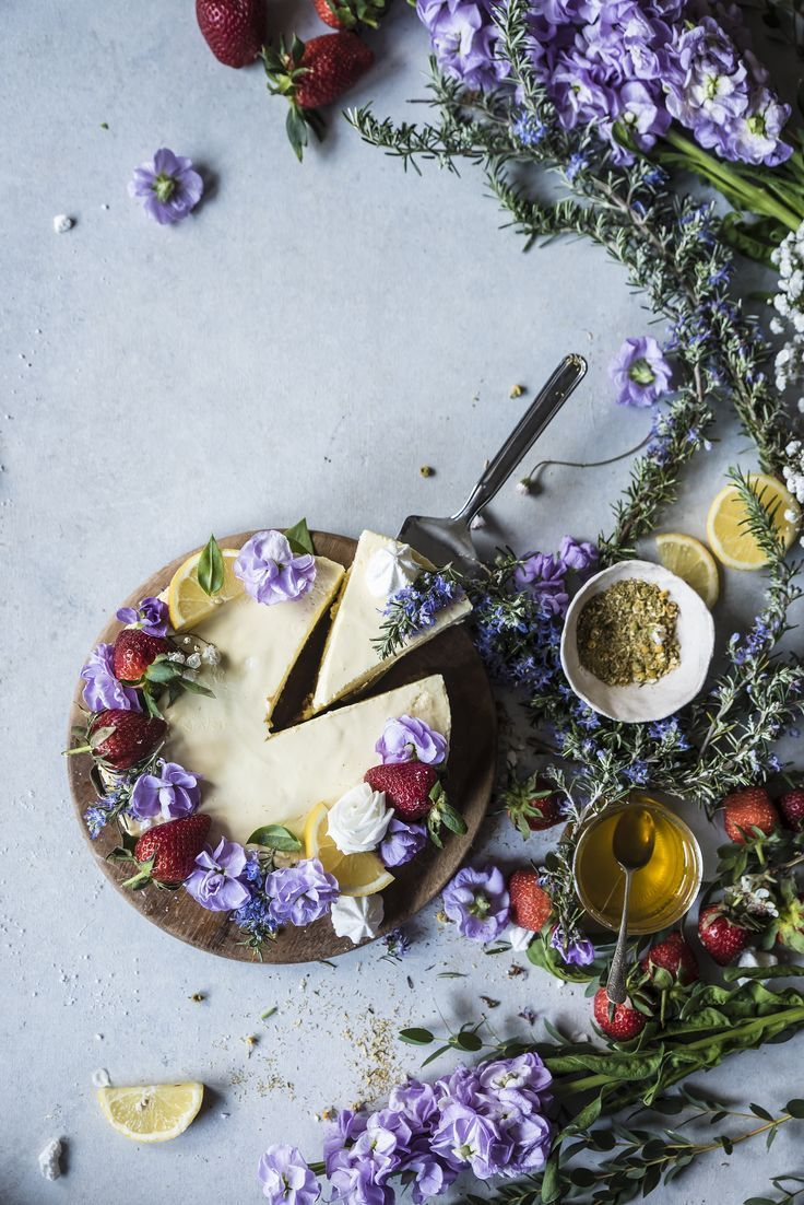 Chamomile Lemon Bavarian Cake #Yum #sweets #UniqueDeserts #BridalShowerRecipes #Chamomile #Gourmet #Foodie #FoodBlog