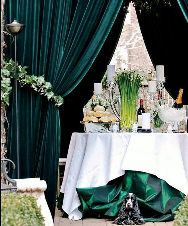 Beautiful Inspiration For Emerald Wedding Reception Table