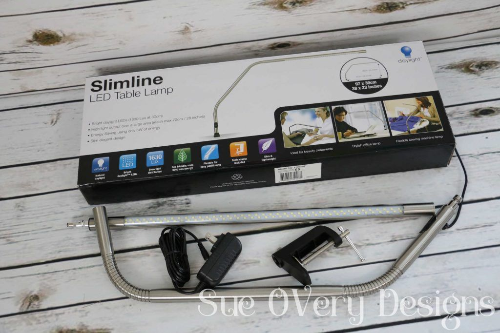 how to use the Slimline LED table lamp, slimeline