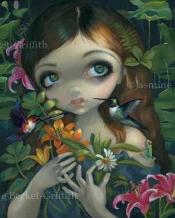 Stilleven 1 still life lowbrow big eye art Jasmine Becket-Griffith CANVAS PRINT