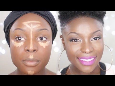 how to highlight and contour tutorial youtube make up dark skin makeup skin makeup et makeup. Black Bedroom Furniture Sets. Home Design Ideas