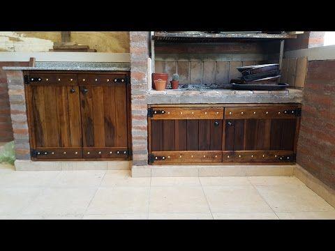 Puertas parrilla madera rustica a medida biotec muebles - Muebles para garage ...
