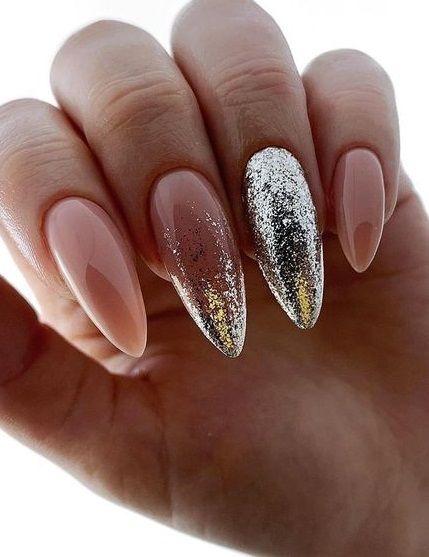 46 Glitter Pink Nail Art Design Ideas for Brides