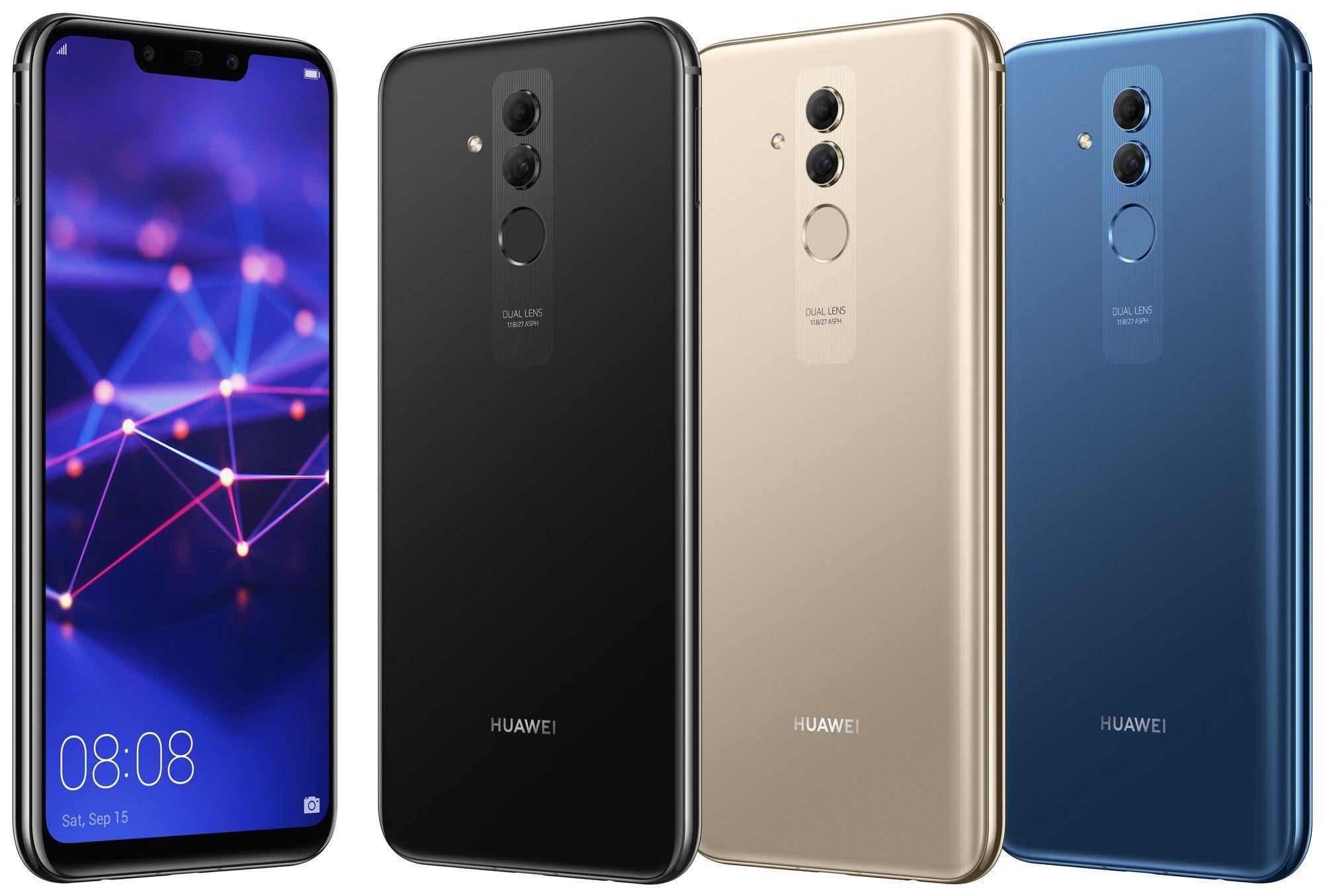 صورة رسمية مسربة جديدة تستعرض لنا الهاتف Huawei Mate 20 Lite بثلاث ألوان مختلفة Prepaid Phones Phone Smartphone