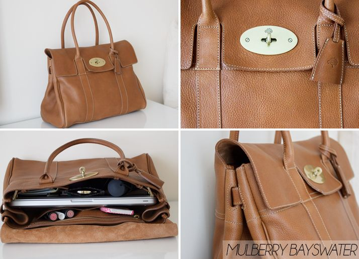 e79164afed65 Mulberry Bayswater Review Oak Natural Leather What s In My Bag ...