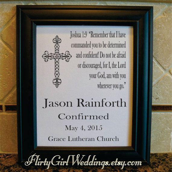 Cotton or burlap print confirmation gift for boy confirmation confirmation gift for boy confirmation confirmation print confirmation sign bible verse godson gift gift from godparent negle Choice Image