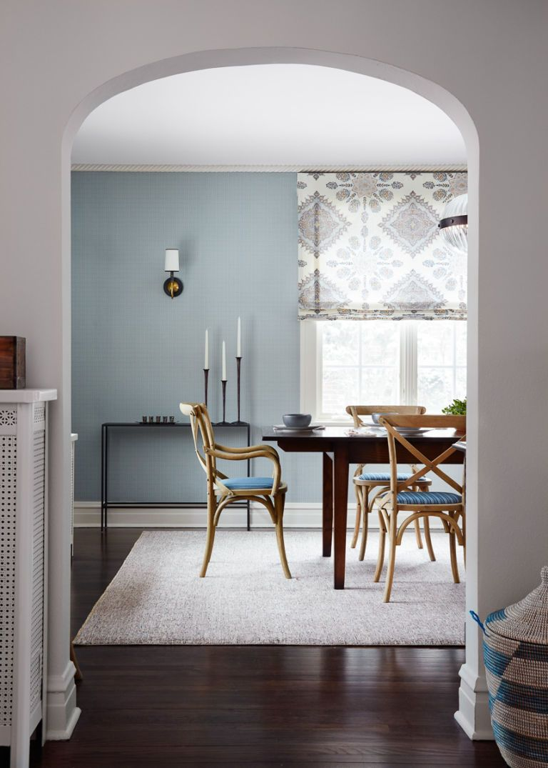 Here S Proof That Blue Accent Walls Are Always A Good Idea Light Blue Living Room Blue Accent Walls Blue Dining Room Walls