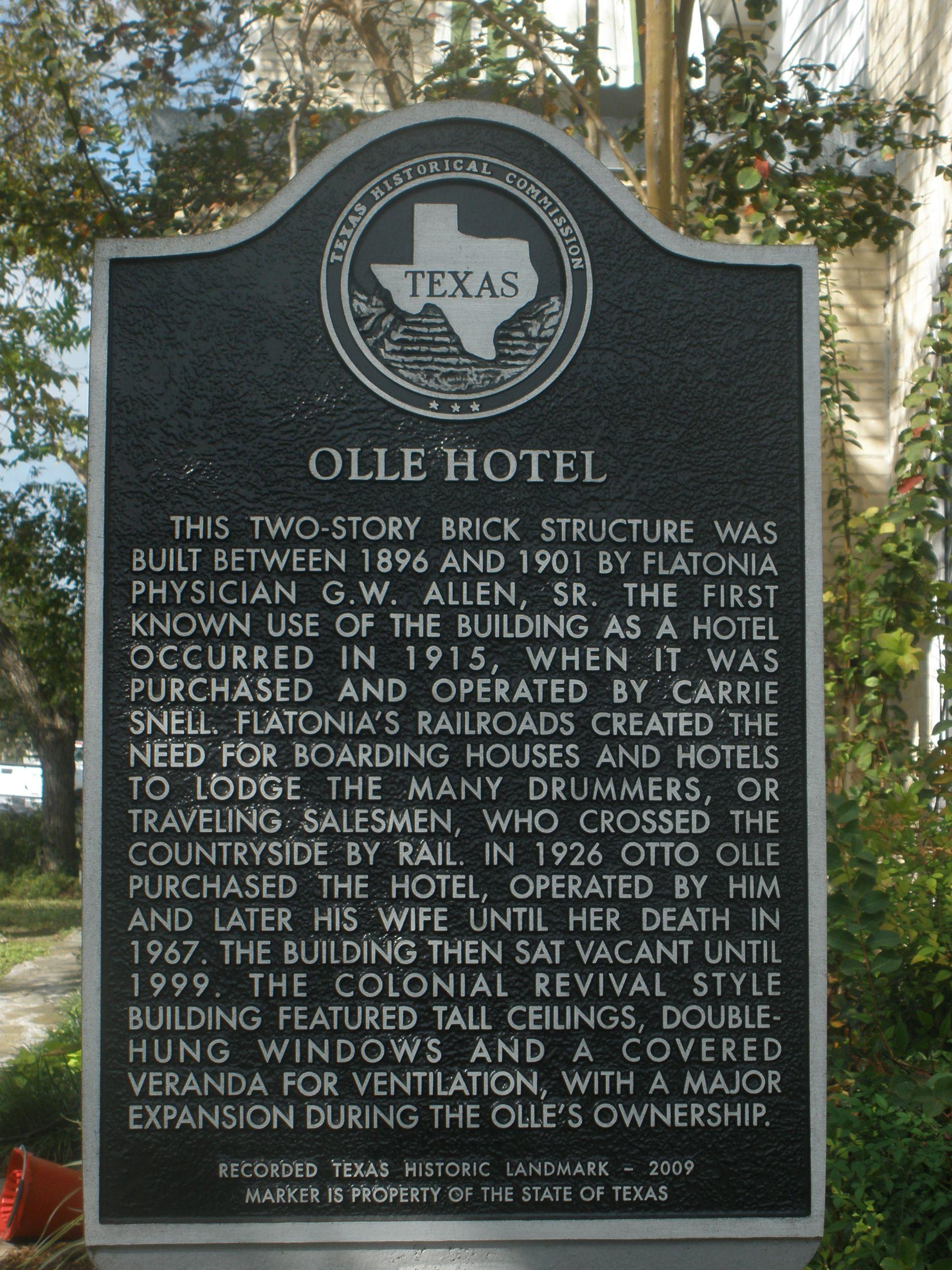 Ollie Hotel Flatonia Texas