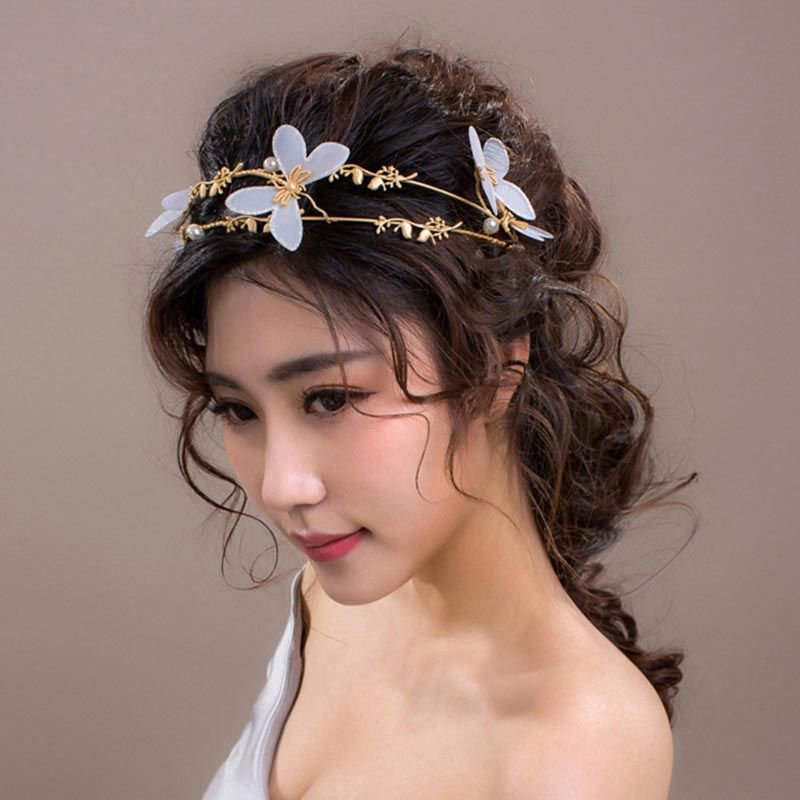 >> Click to Buy << Bridal Bride Golden Tiara White Butterfly Jewelry Headband Wedding Dress Headdress Jewelry Accessories Party  LB #Affiliate