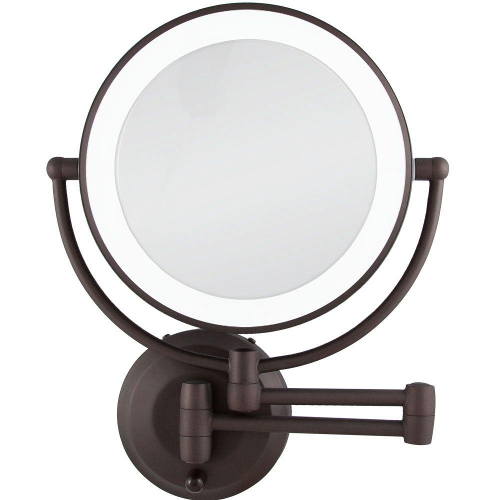 Zadro 15 in. L x 12 in. W LED Lighted Wall Makeup Mirror