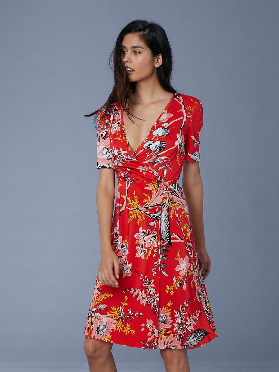 2ddb512b68594 Short Sleeve Flared Wrap Dress | Lust List | Dresses, Wrap Dress ...
