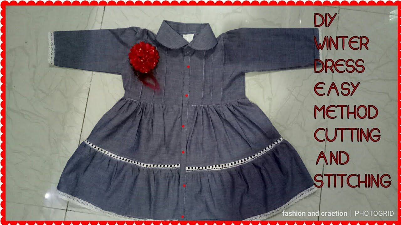 a5ff05e0ff1af Diy-casual comfortable baby girl frock design in winter cotton frock in .