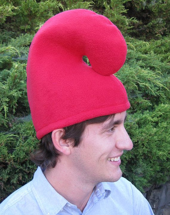 f8e7e6af41f RED GNOME HAT Fleece Adult size add little stuffing Gnome Hat