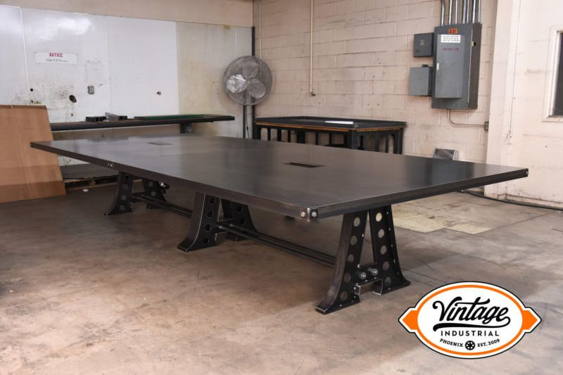 A frame conference table with data port and wiring chase model a frame conference table with data port and wiring chase model af22 this a frame has a huge 14 by 6 steel top the base was reinforced to support the greentooth Gallery