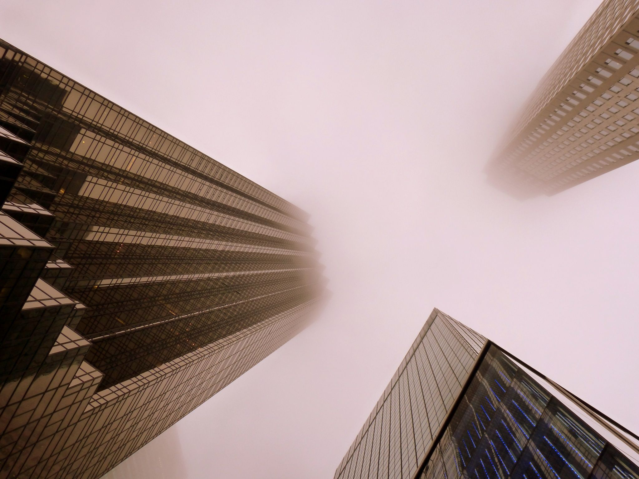 Looking up NYC Skyscrapers trio by Ludovic Farine on 500px