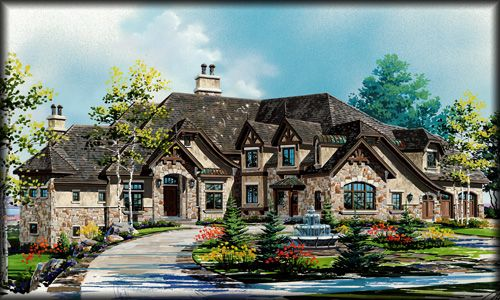 Unique+Luxury+House+Plans | Luxury Two Story Home Designs