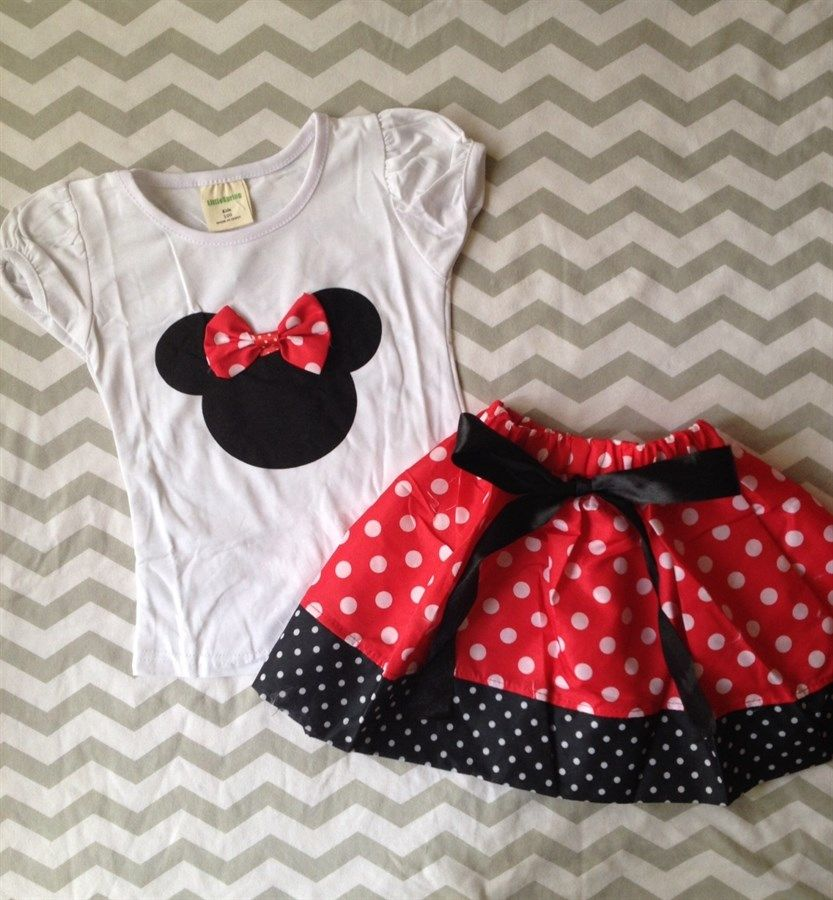 Minnie Inspired Skirt or Shorts Set THEY'RE BACK! Only $14.99