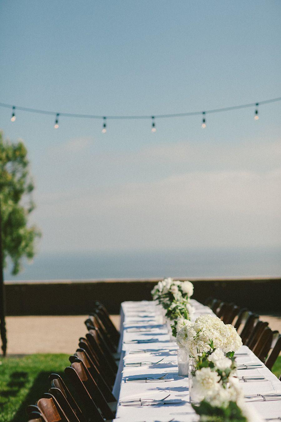 #Wedding #Tablescape #WhiteFlowers | #AlFresco | Photography: EmilyBlakePhoto.com