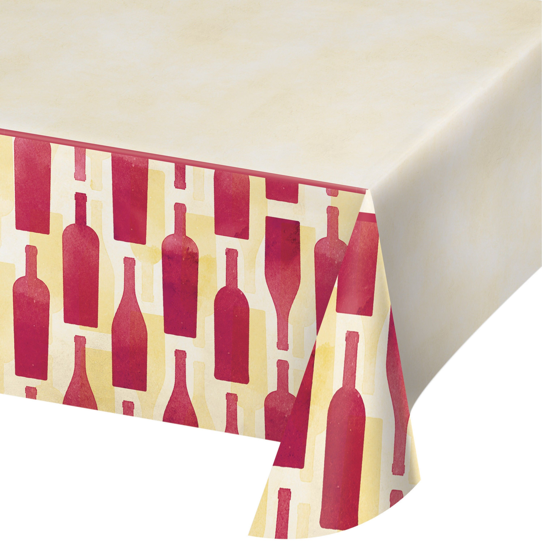 Sip Sip Hooray 54 Plastic Table Covers Wine Theme Plastic Tablecloth